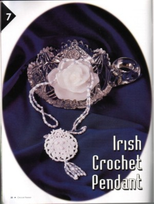 Irish Crochet Pendant Published